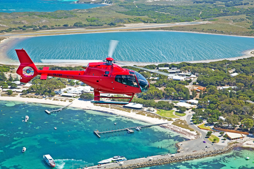 Rottnest Island Helicopter Tours - Ph: 08-9414-8584
